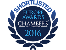 CHAMBERS EUROPE AWARDS FOR EXCELLENCE, 2016