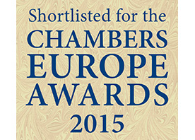 CHAMBERS EUROPE AWARDS FOR EXCELLENCE, 2015