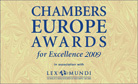 CHAMBERS EUROPE AWARDS FOR EXCELLENCE, 2009
