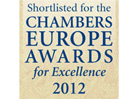 CHAMBERS EUROPE AWARDS FOR EXCELLENCE, 2012