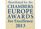 CHAMBERS EUROPE AWARDS FOR EXCELLENCE, 2013