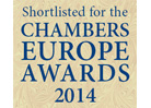 CHAMBERS EUROPE AWARDS FOR EXCELLENCE, 2014