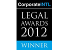 Corporate INTL LEGAL AWARDS WINNER, 2012